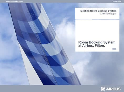 Airbus meeting room booking system presentation slides
