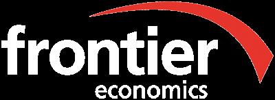 frontier economics white logo