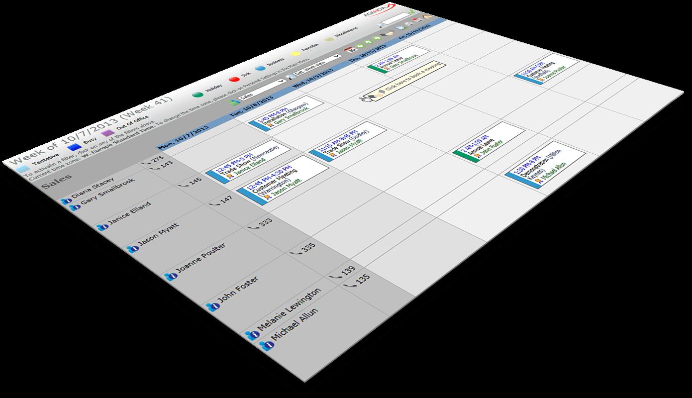 group calendaring week overview