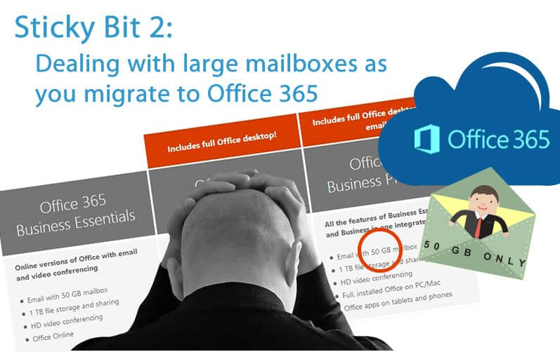 Dealing with large mailboxes when moving to Office 365