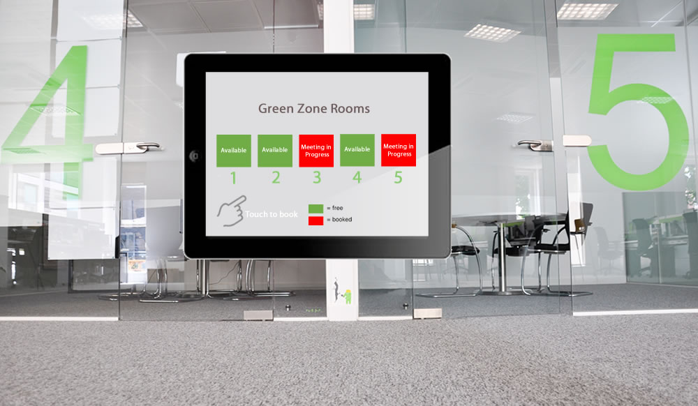 ideal for corridors and hot desk zones, compact screens can be used to display multiple resources in a simple block layout